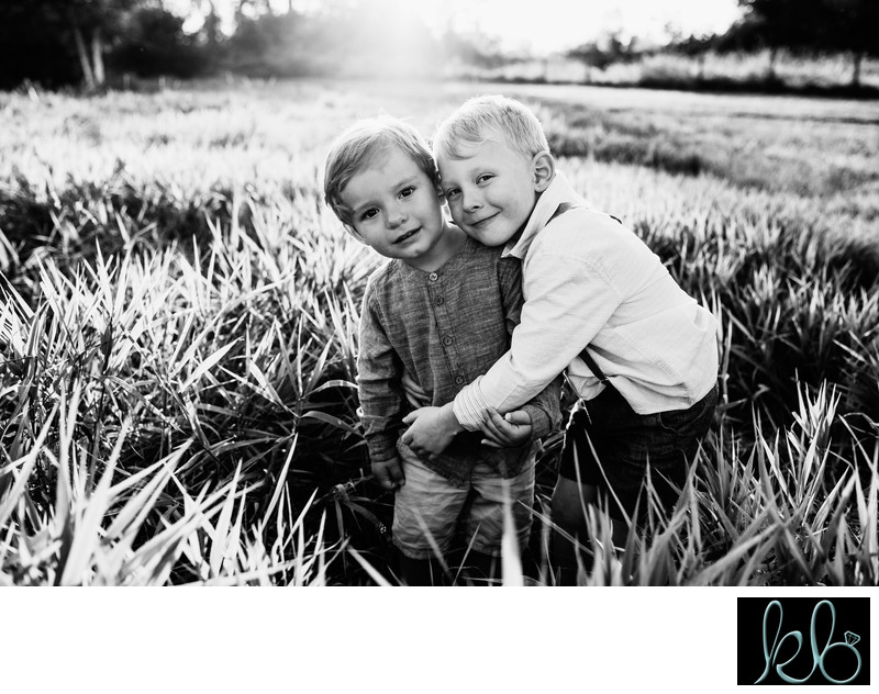 Brother Hug in the Long Grass