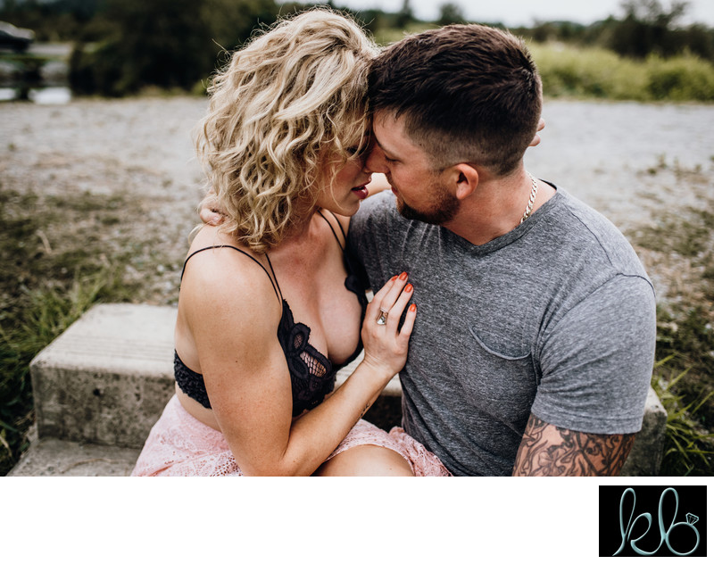 Intimate Engagement Photos at Pitt River