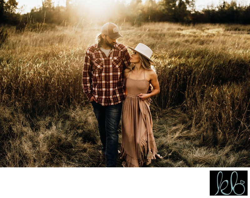 Best Sunset Photography in Langley of Couple