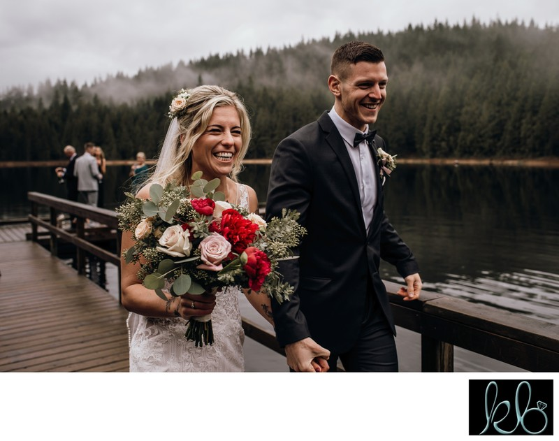 Bride and Groom Married at Golden Ears Provincial Park