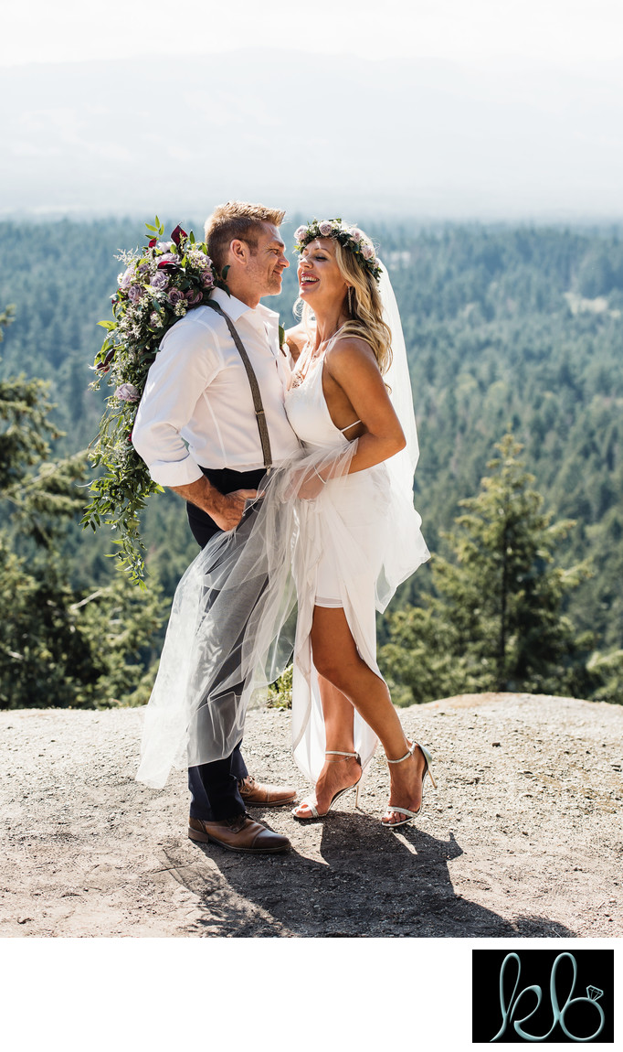 Bohemian Wedding Photo of Couple