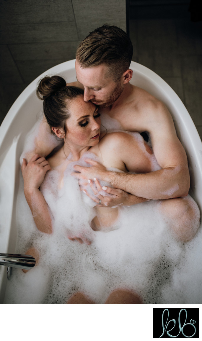 In Home Bath Tub Couple Session