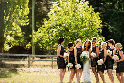 Bridesmaids at Fort Langley Wedding