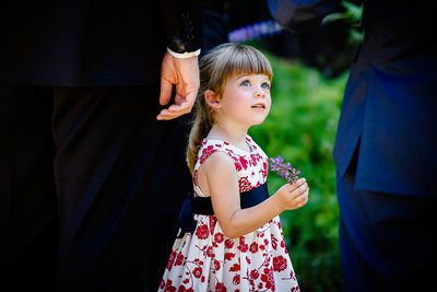 Girl At Wedding Ceremony in Aldergrove