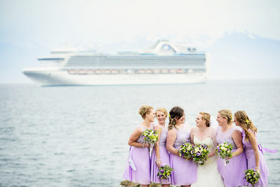 Portrait of Bridal Party at Kitsilano