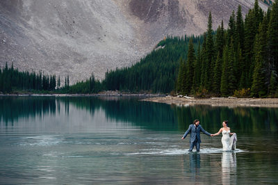 Trash the Dress Moraine Lake Wedding Photos