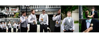 Groom Having Drinks With Groomsmen