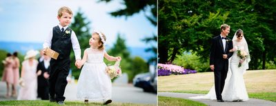 Flower Girl and Ring Bearer Walking Down Aisle