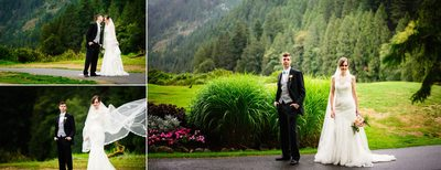 Stunning Bride and Groom Portraits at SFU