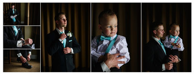 Groom with the Ring Bearer at Hotel in Parksville