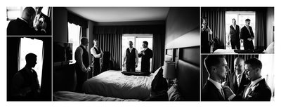Groom and his Friends Get Ready for Wedding