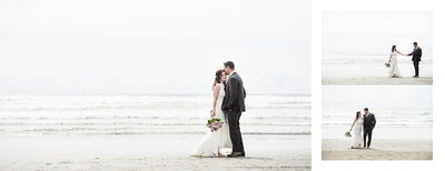 Stunning Photography of Bride and Groom on Beach