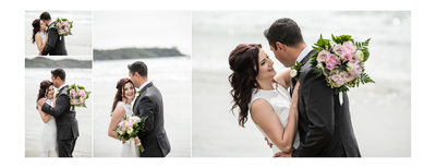 Beach Portraits of Bride in Groom in Tofino