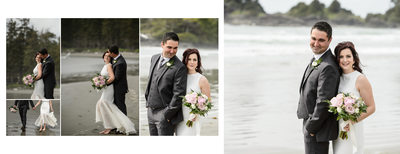Bride and Groom Photos on the Beach in Tofino