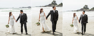 Fun Bride and Groom Pictures on Long Beach