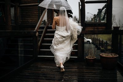 Rainy Wedding at the Fraser River Lodge