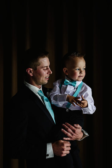 Photo of Groom and Ring Bearer at Hopcott Farms