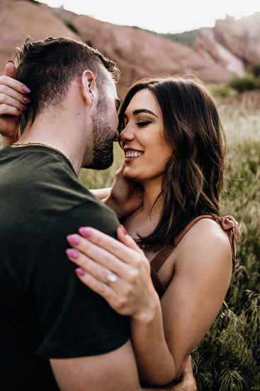 Red Rocks Amphitheatre Engagement Photographer