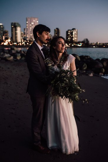 English Bay Beach Wedding Photos