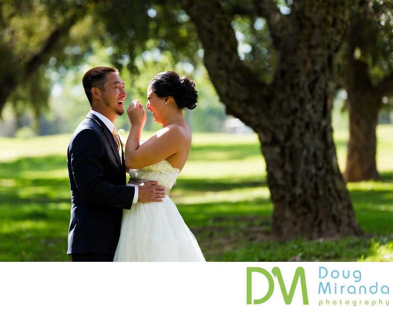 First Look Wedding photography at Haggin Oaks