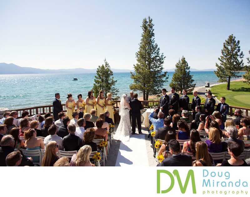 Edgewood Tahoe North Room Wedding Ceremony