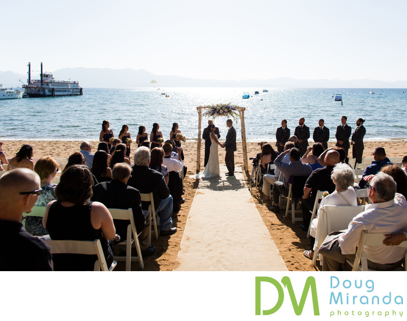 Zephyr Cove Resort Beach Wedding Ceremony Pictures