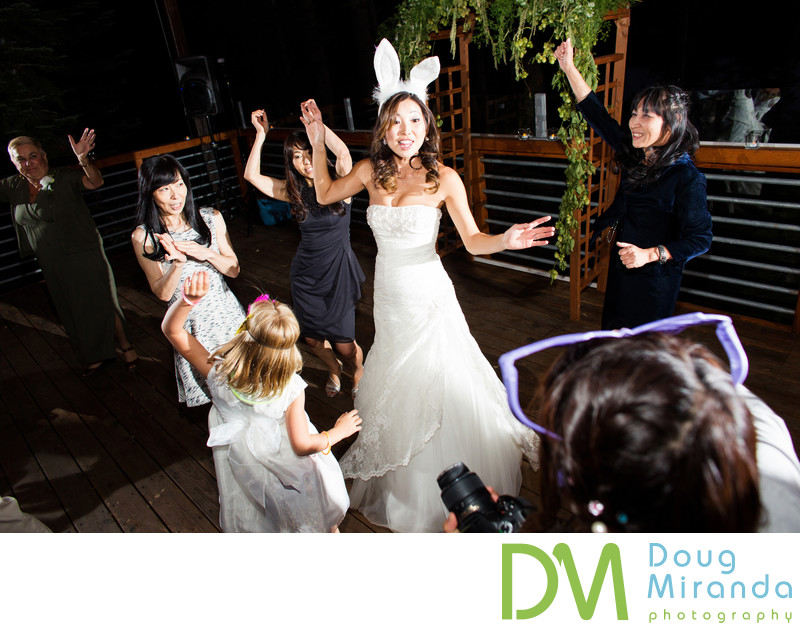 Bride Dancing at Sugar Bowl Resort Wedding Reception