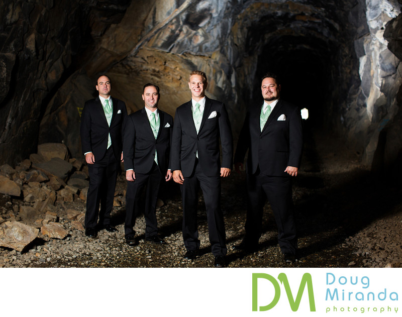 Sugar Bowl Resort Groomsmen Wedding Photography