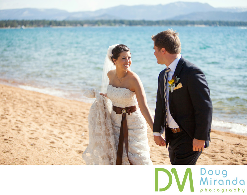 Beach Wedding Pictures at Edgewood Tahoe