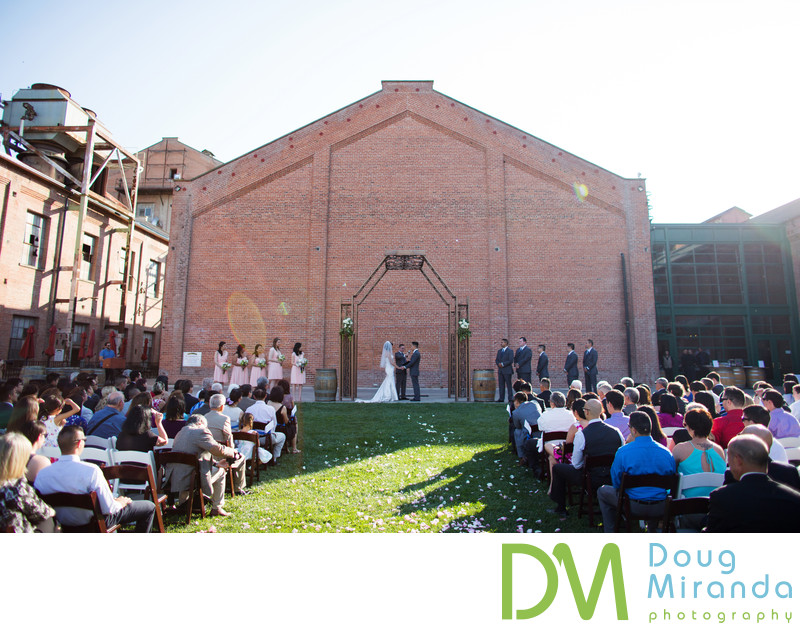 Outdoor Wedding Ceremony Photos At Old Sugar Mill