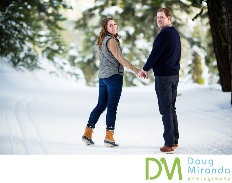 Lake Tahoe Winter Engagement S