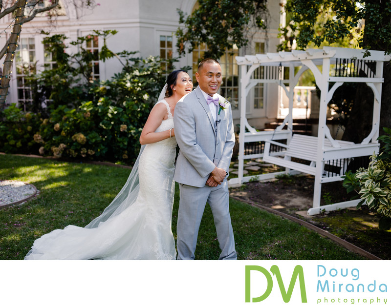 Vizcaya Sacramento wedding first look photos