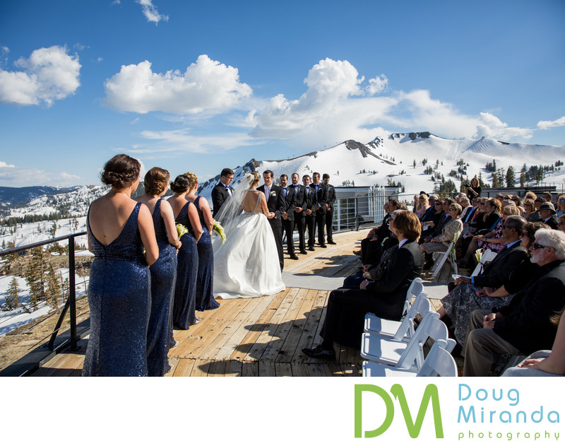Squaw Valley High Camp wedding ceremony photos