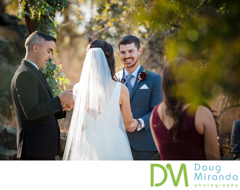 Auburn Valley Golf Club wedding ceremony photographer