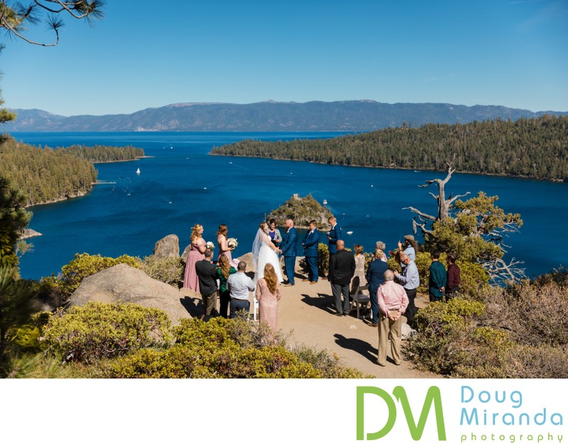 Emerald Bay Wedding Ceremony Photos