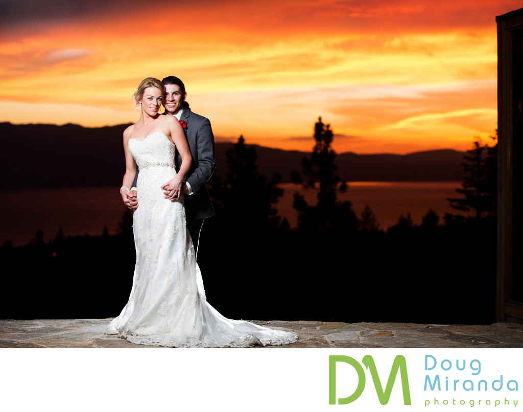 Wedding Pictures at Tahoe Mountain Home