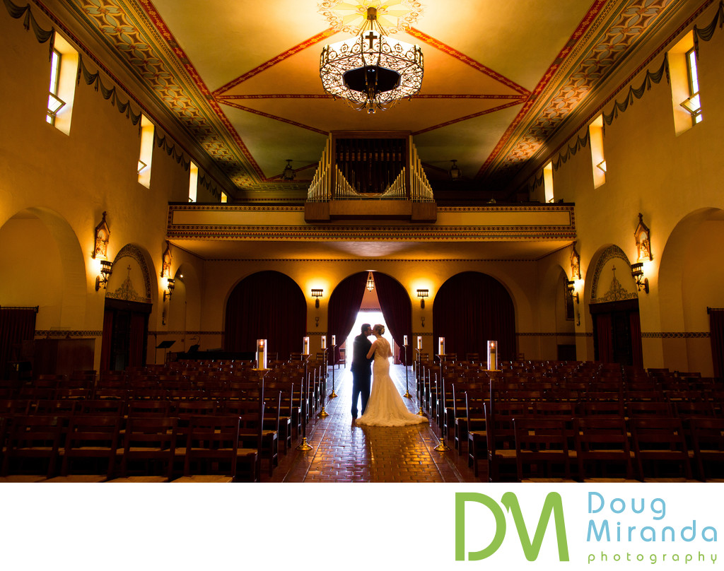 Santa Clara University Mission wedding Photography