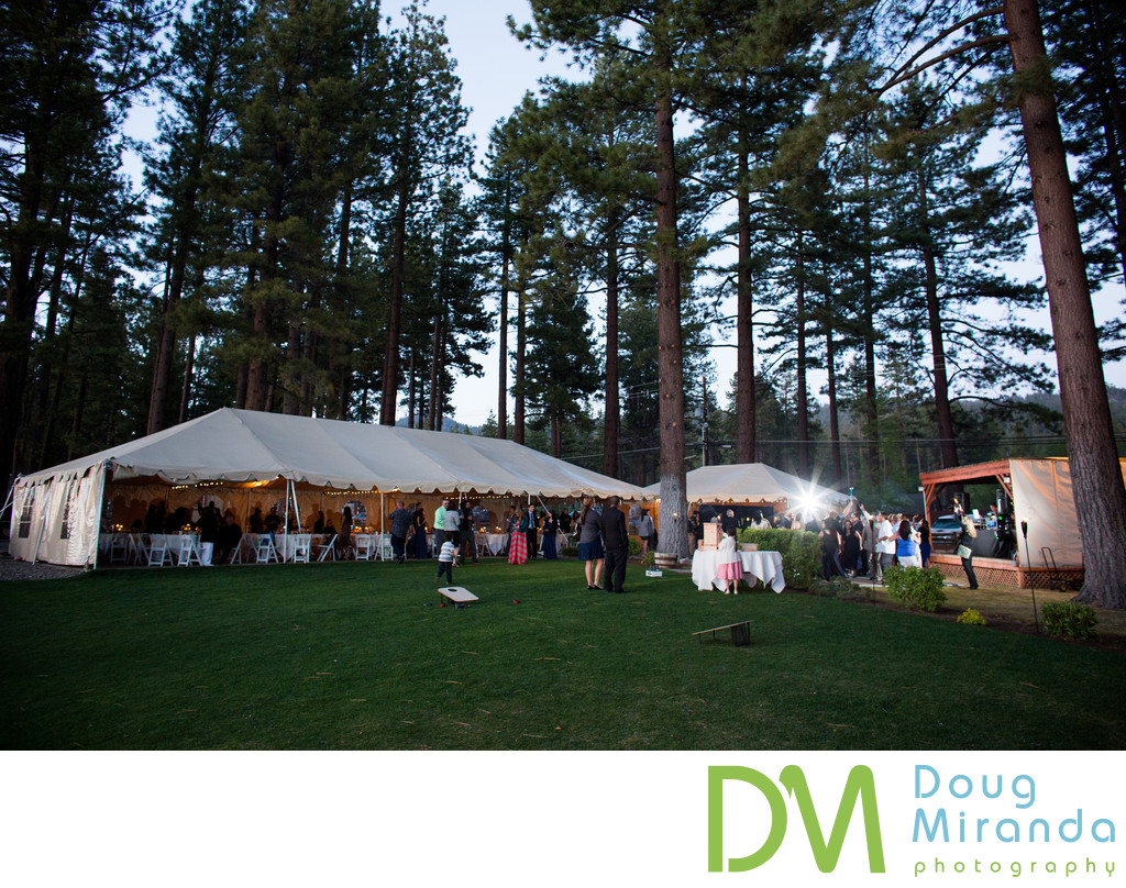 Zephyr Cove Resort Outdoor Wedding Reception Pictures