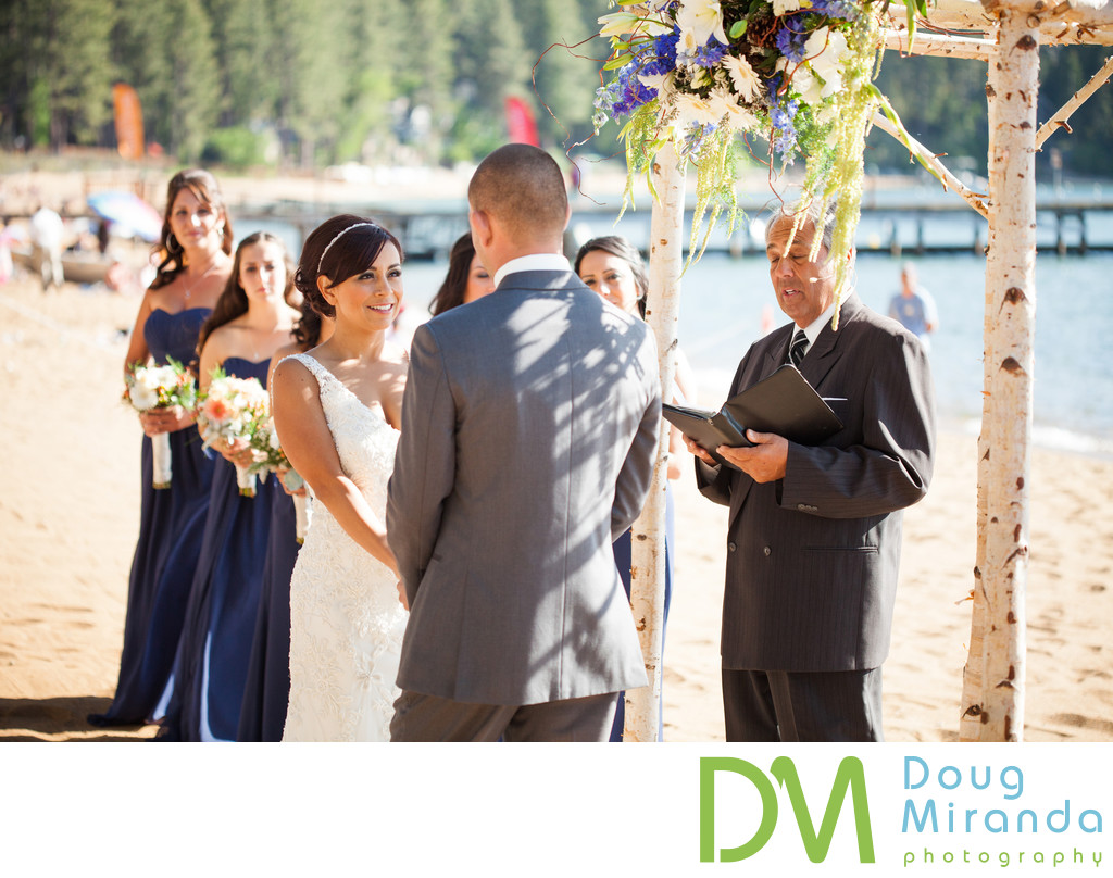 Beach Wedding at Zephyr Cove Lake Tahoe