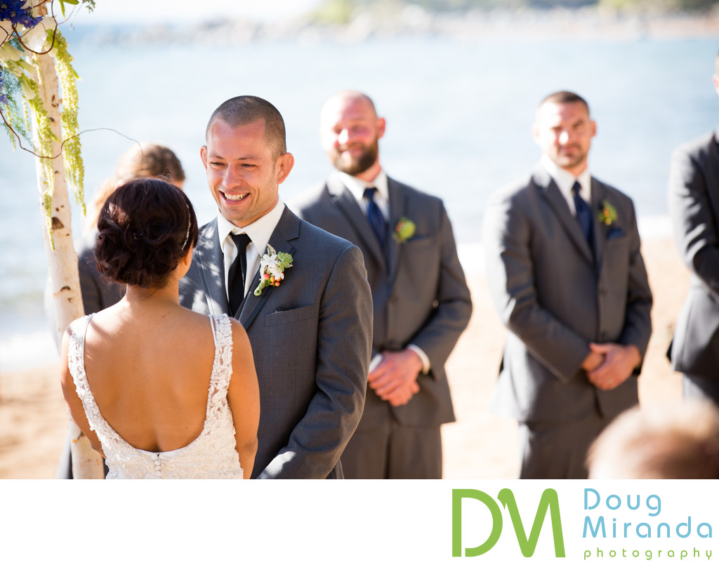 Zephyr Cove Resort Wedding Ceremony Photographer