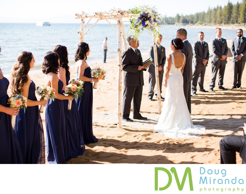 Zephyr Cove Resort Beach Wedding Ceremony
