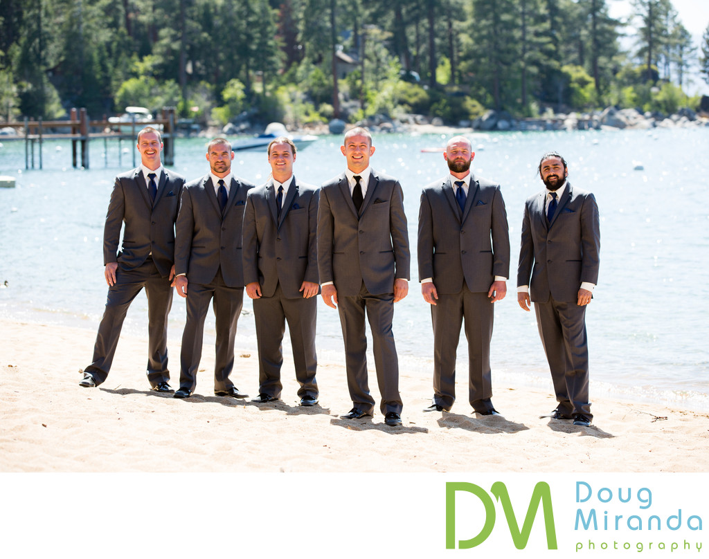 Zephyr Cove Resort Groomsmen Photography
