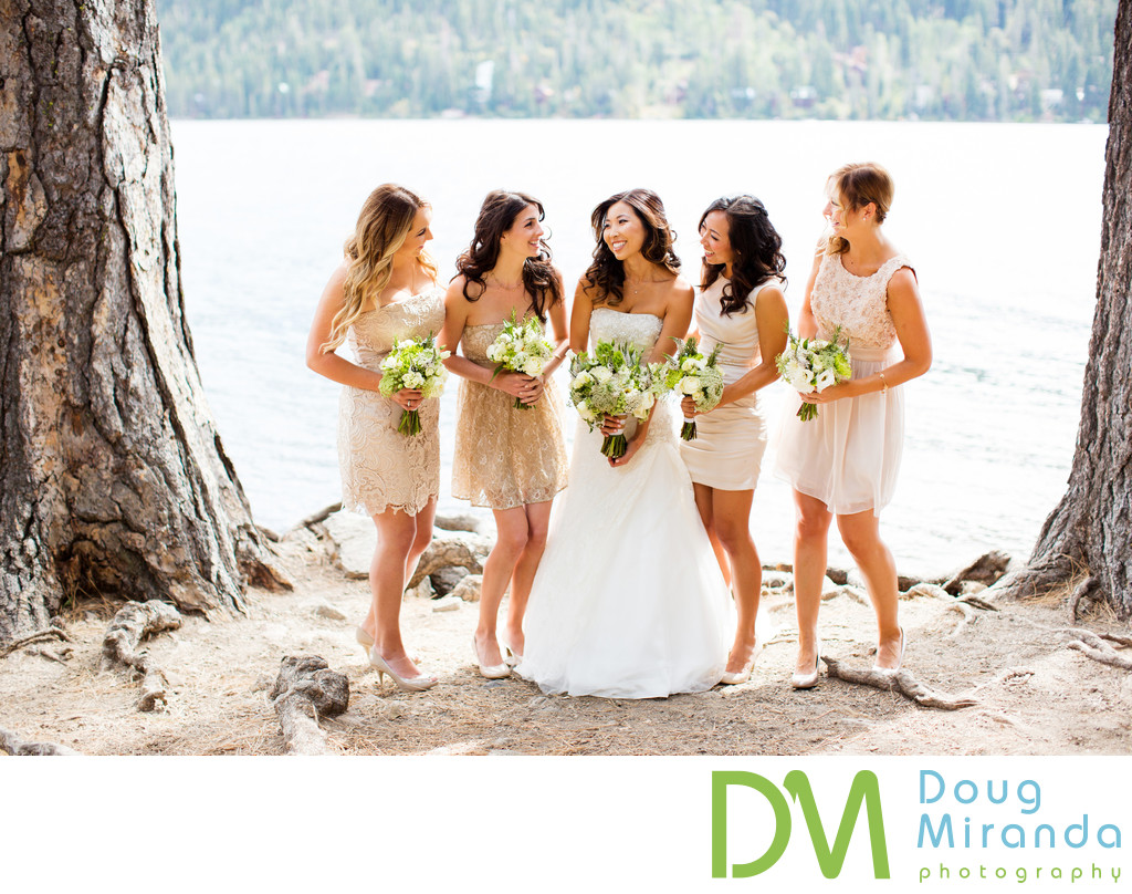 Donner Lake Bridal Party Wedding Photography