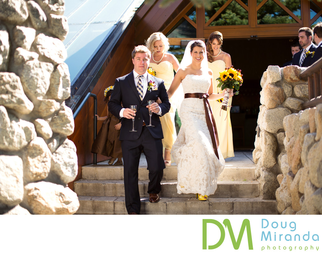 Bride and Groom at Edgewood Tahoe Golf Course Wedding