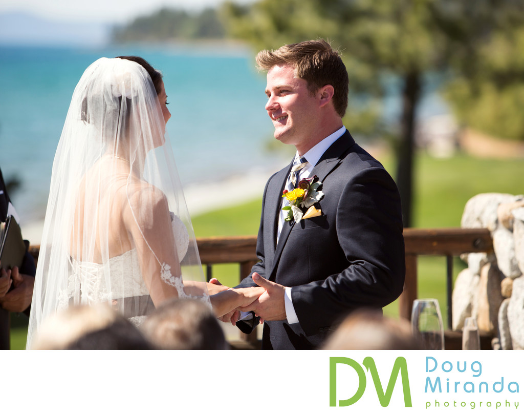 Wedding Ceremony Photos at Edgewood Tahoe Golf Course
