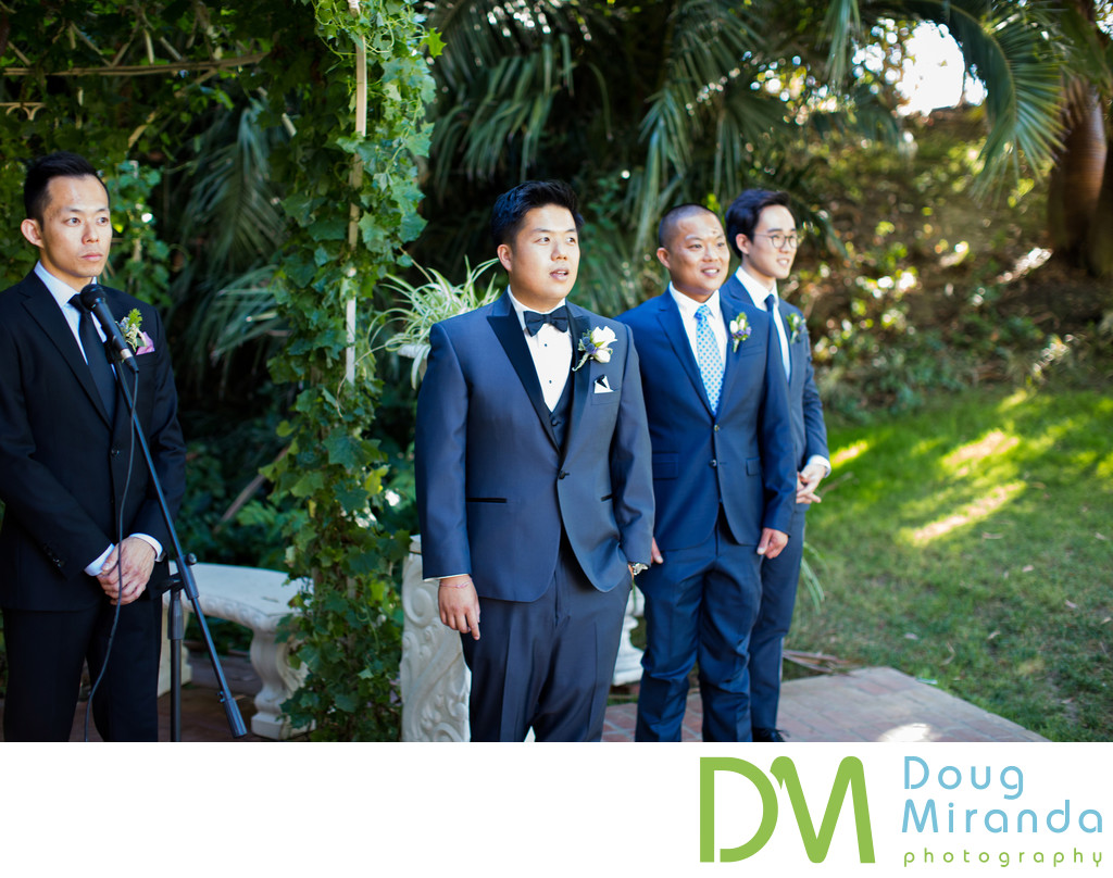 Wedding Ceremony Photographs at Grand Island Mansion