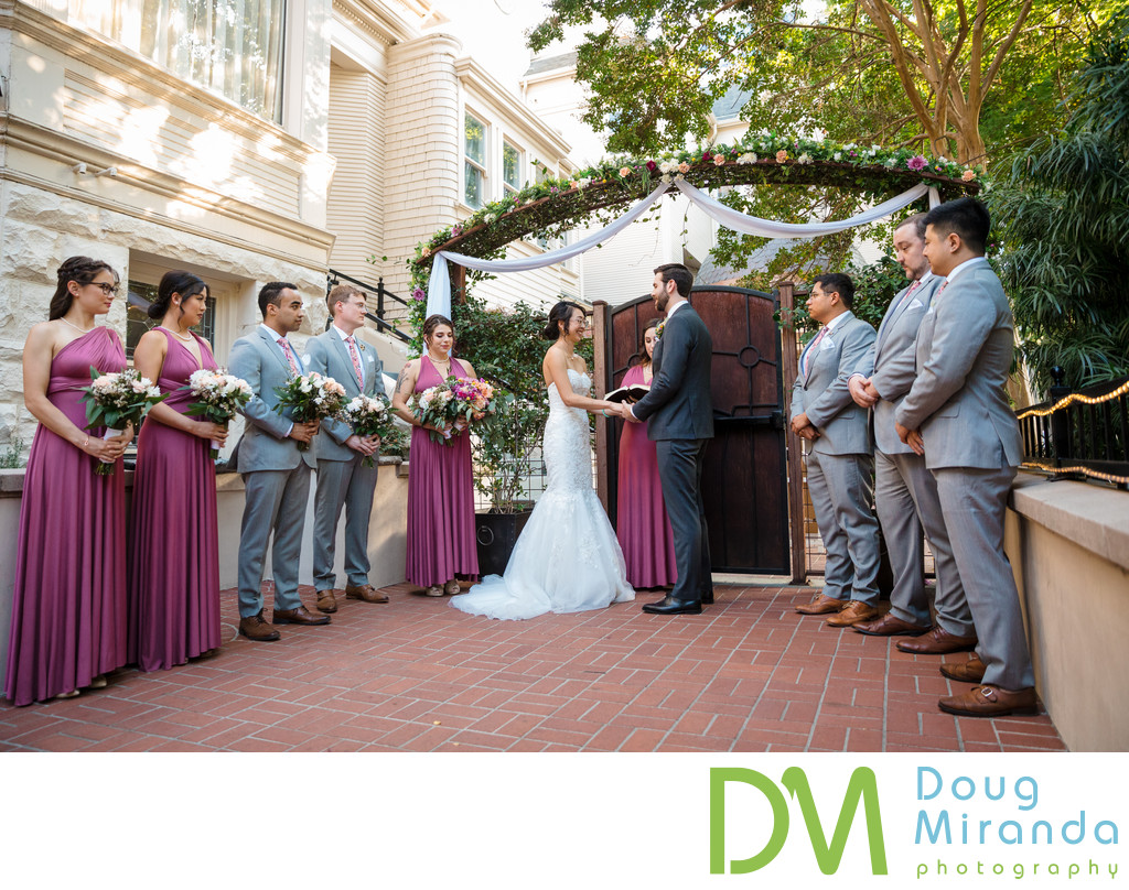 The Sterling Hotel Wedding Ceremony Photos