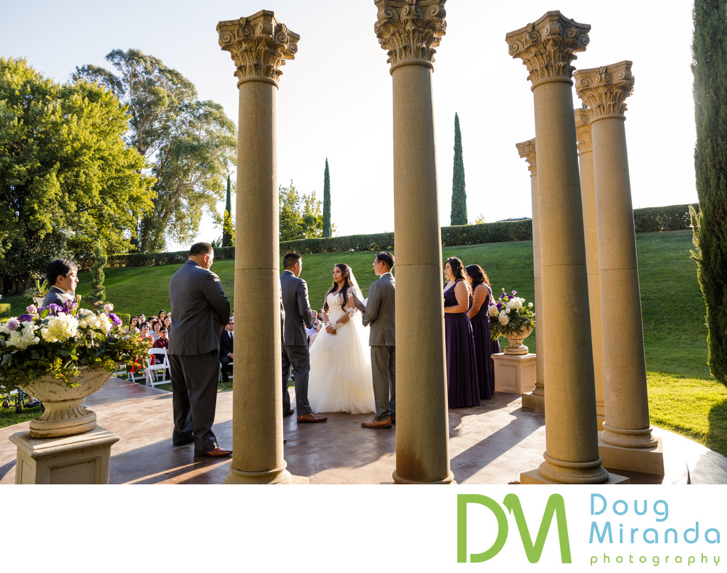 Ceremony Photos at Grand Island Mansion