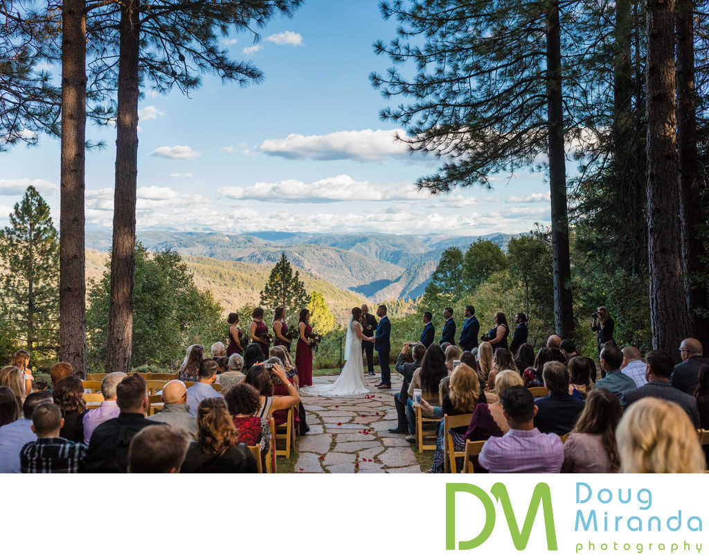 Forest House Lodge Wedding Ceremony Site Photos