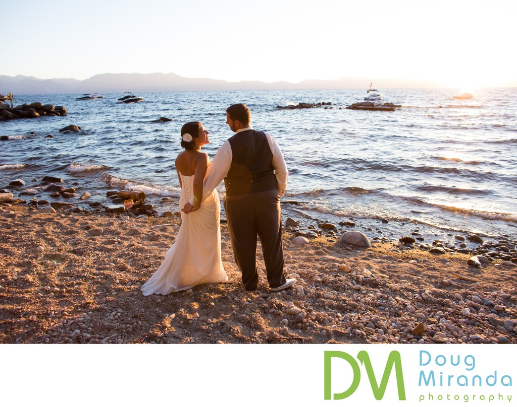 Private Beach Lake Tahoe Elopement